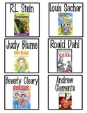 Elementary Classroom Library Book Labels