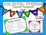 Elementary CHAMPS Classroom Management Bundle (Colorful Frames)