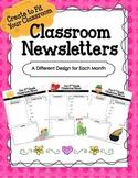 Elementary Classroom Newsletters--Editable!
