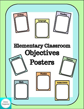 Elementary Classroom Objectives Posters