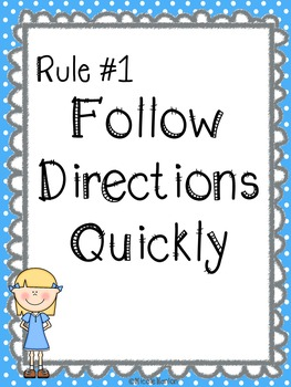 Elementary Classroom Rules