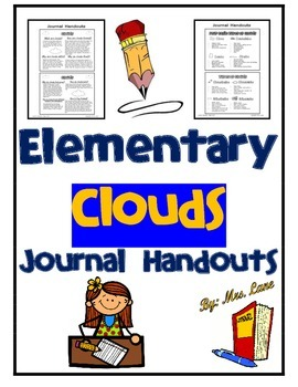 Elementary Clouds Journal Handouts