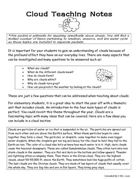 Elementary Clouds Teaching Tips