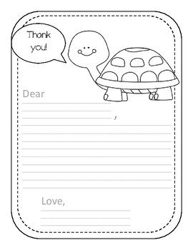 Elementary Coloring Pages- Thank You Letter Bundle