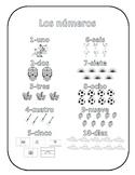 Elementary Coloring Worksheet - Los numeros
