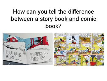 Elementary Comic Books and Visual Narrative Presentation