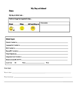 Elementary Communication Sheet