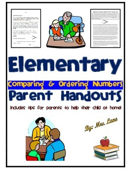 Elementary Comparing & Ordering Numbers Parent Handouts (Help At Home)