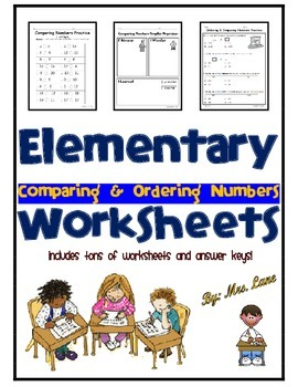 Elementary Comparing & Ordering Numbers Worksheets
