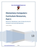 Elementary Computers: Curriculum Resources
