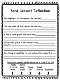 Elementary Concert Reflection- Band Option 1