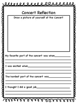 Elementary Concert Reflection- Middle Grades