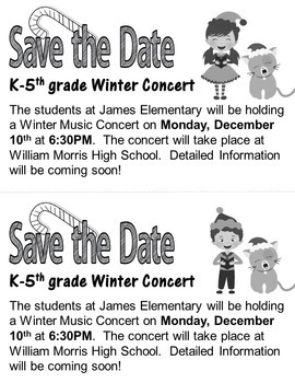 Elementary Christmas Concerts #1 AND #2: Programs, letters, lyrics and more!