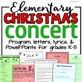 Elementary Music Christmas Concert BUNDLE: Music program and printables