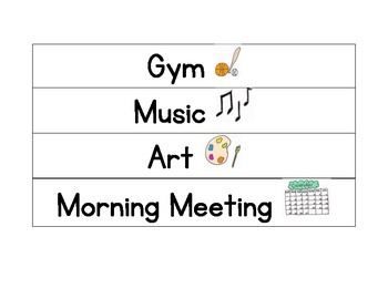 Elementary Daily Schedule Cards
