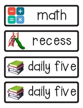 Elementary Daily Schedule Task Cards