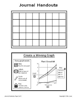 Elementary Data and Graphing Journal Handouts