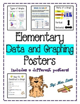 Elementary Data and Graphing Posters (Includes 9 Different