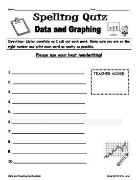 Elementary Data and Graphing Spelling Resources