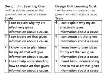 Elementary Design Learning Goal and Scale
