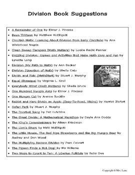 Elementary Division Book Suggestions
