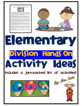 Elementary Division Hands-On Activity Ideas