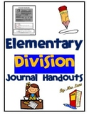 Elementary Division Journal Handouts