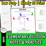 Elementary Division Notes & Examples with Practice Problems