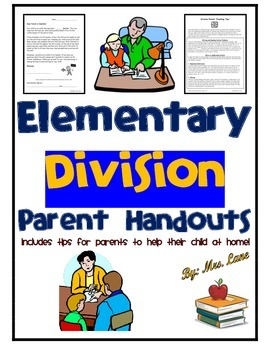 Elementary Division Parent Handouts (Help At Home)