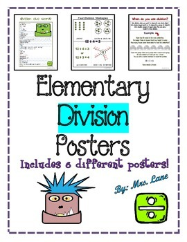 Elementary Division Posters (Includes 6 Different Ready-To-Print Posters)