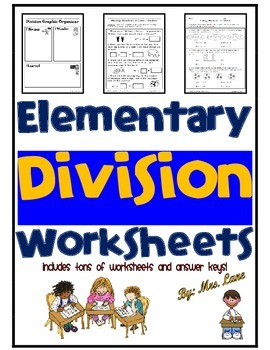 Elementary Division Worksheets