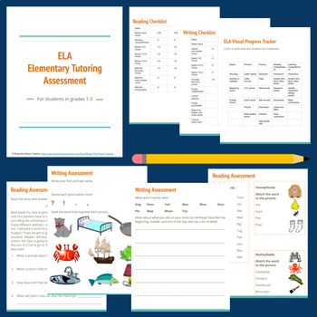 Elementary ELA - Reading and Writing - Tutoring Assessment Tool