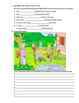 Elementary ESL test