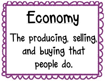 Elementary Economic Signs & Definitions