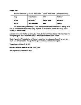 Elementary Economics Quiz