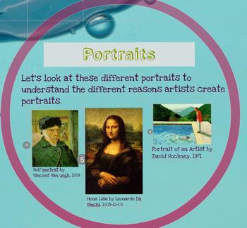Elementary Education Art Underwater Self-Portrait Prezi Lesson