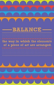 Elements and Principles of Design Posters for Elementary Levels