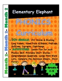 PHONICS-MONTH 2--Elementary Elephant Curriculum-Intervention/Special Ed./RTI