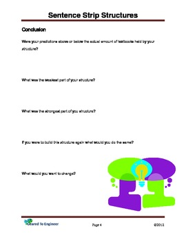 Elementary Engineering: Sentence Strip Structures