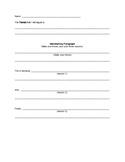 Elementary Essay Outline