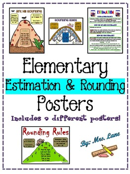 Elementary Estimation and Rounding Posters (Includes 9 Dif