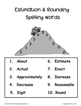 Elementary Estimation and Rounding Spelling Resources