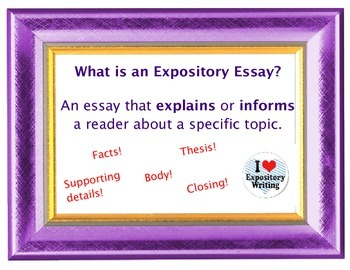 Elementary Expository Essay Writing Poster