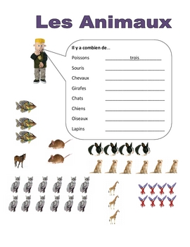 Elementary (FLES) French Animal Packet (7 Pages)