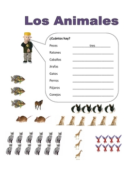 Elementary (FLES) Spanish Animal Packet (7 Pages)