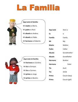 Elementary (FLES) Spanish Family Packet (7 Pages)