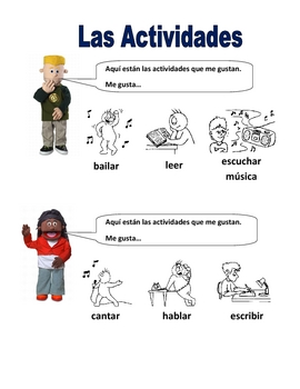 Elementary (FLES) Spanish Verbs and Activities Packet (7 Pages)