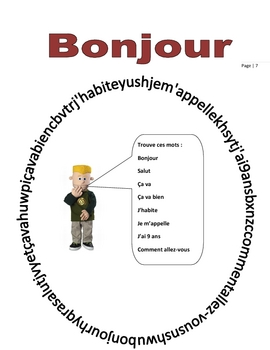 Elementary (FLES) Year-Long French Text (73 Pages)