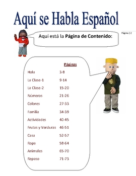 Elementary (FLES) Year-Long Spanish Text (73 Pages)