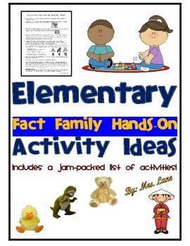Elementary Fact Family Hands-On Activity Ideas